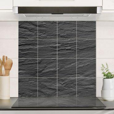 Adesivo per piastrelle - Slate - Quadrato