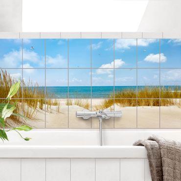 Adesivo per piastrelle - Beach On The North Sea - Orizzontale