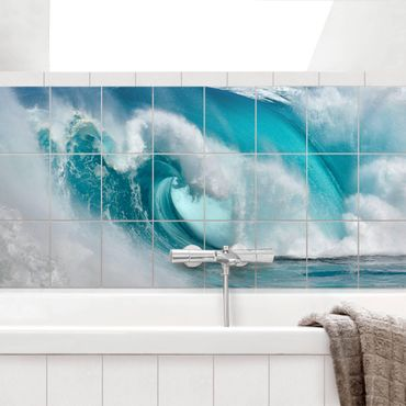 Adesivo per piastrelle - Raging Waves - Orizzontale
