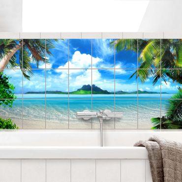 Adesivo per piastrelle - Dream Vacation - Orizzontale