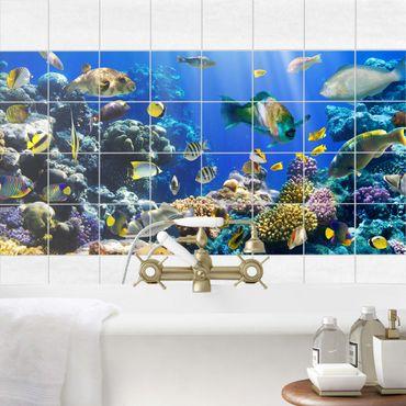 Adesivo per piastrelle - Underwater Reef