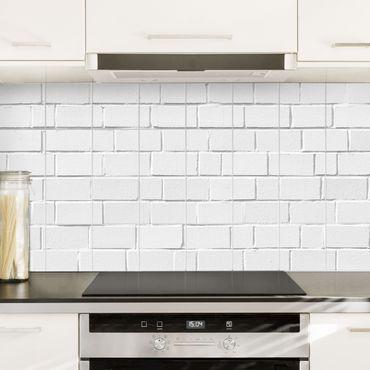 Adesivo per piastrelle White Stone Wall