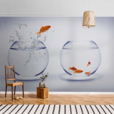 Carta da parati metallizzata - Flying Goldfish