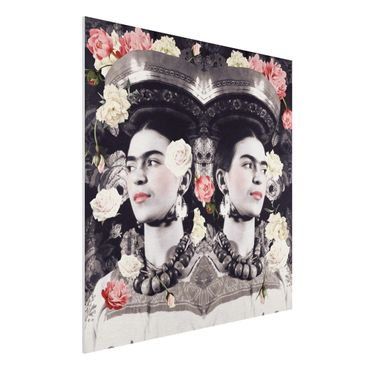 Quadro in forex -Frida Kahlo - Flower Flood- Quadrato 1:1