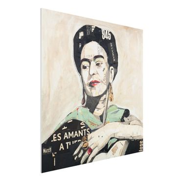 Quadro in forex -Frida Kahlo - Collage No.4- Quadrato 1:1