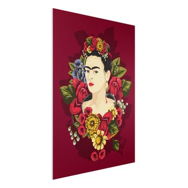 Quadro in forex -Frida Kahlo - Roses- Verticale 3:4
