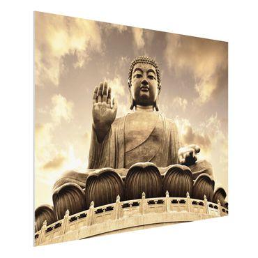 Quadro in forex - Big Buddha Sepia - Orizzontale 4:3