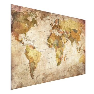 Quadro in forex - Map of the world - Orizzontale 3:2