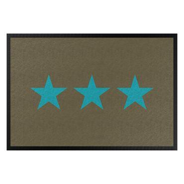 Zerbino - Three Stars Brown Turqoise Blue