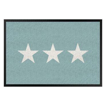Zerbino - Three Stars Turquoise Grey
