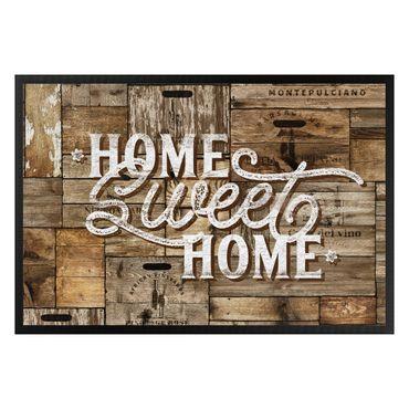 Zerbino - Home sweet home wooden wall