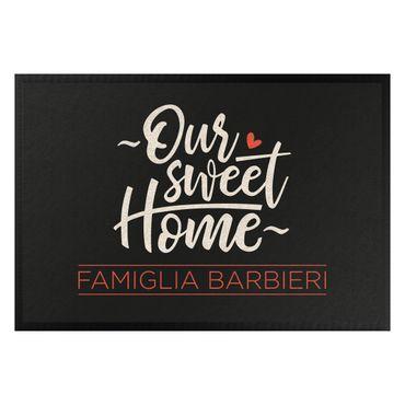 Zerbino - Our sweet home nome famiglia personalizzato