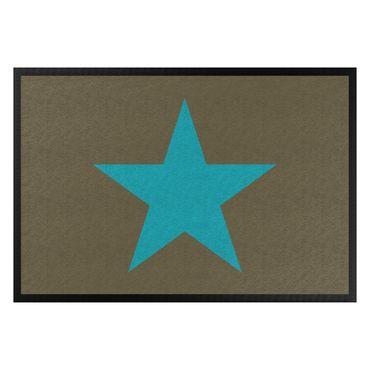 Zerbino - Star In Brown Turqoise Blue