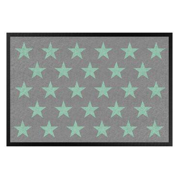 Zerbino - Stars Staggered Grey Mint