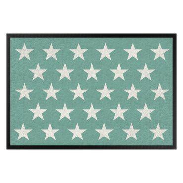 Zerbino - Stars Staggered Turquoise