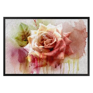 Zerbino - Watercolor Painting sketch with rose