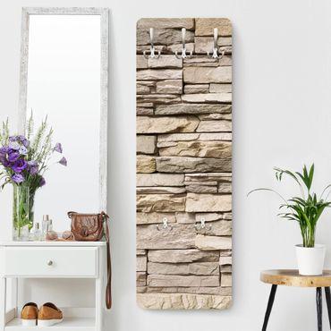 Appendiabiti - Muro asiatico di pietre grandi e luminose