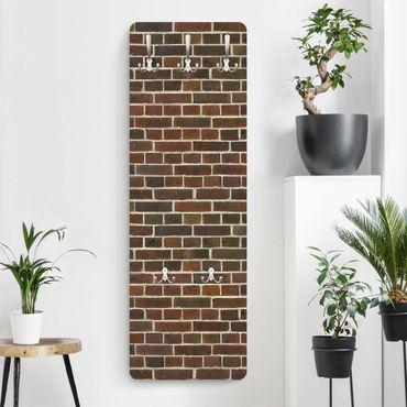 Appendiabiti effetto pietra - Muro di mattoni marrone rosso
