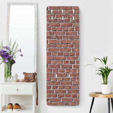 Appendiabiti effetto pietra - Muro di mattoni rossi