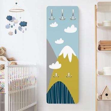 Appendiabiti bambini - Nuovle bianche e montagne