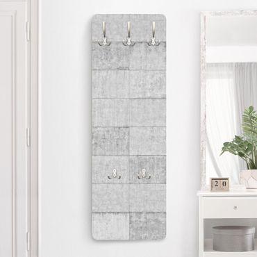 Appendiabiti effetto pietra - Calcestruzzo grigio