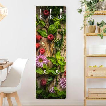Appendiabiti - Flowers raspberry mint