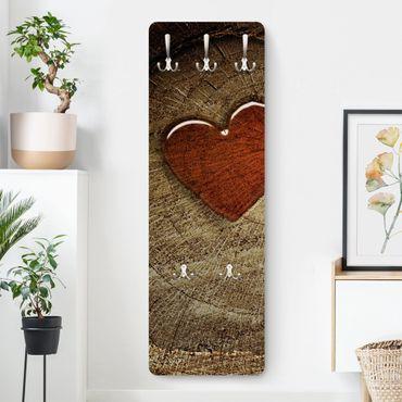 Appendiabiti marrone - Effetto legno natural love - Stile provenzale