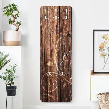 Appendiabiti - wooden fence floral