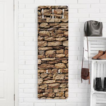 Appendiabiti marrone - Effetto pietra muro americano - Stile provenzale