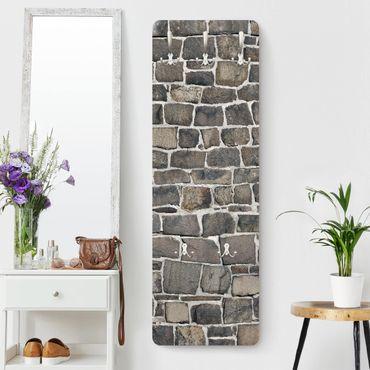 Appendiabiti effetto pietra - Pietrisco su muro