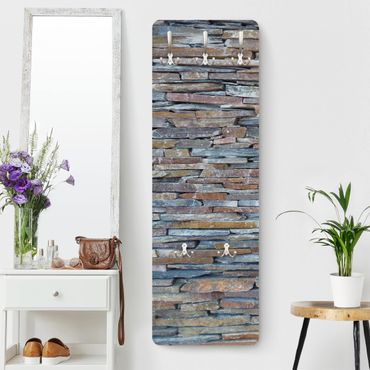Appendiabiti effetto pietra - Muri di pietre colorate