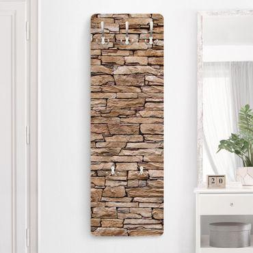Appendiabiti effetto pietra - Muro pietre creta