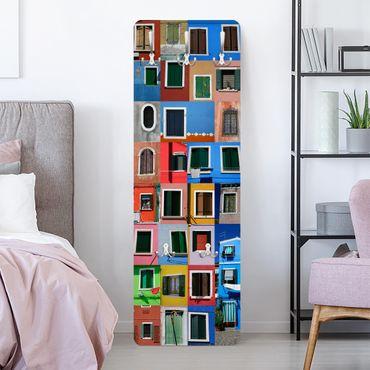 Appendiabiti da parete design - Finestre dal mondo - Colorato