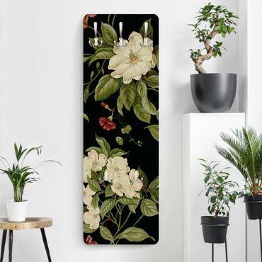 Appendiabiti - Giardino fiorito su nero I