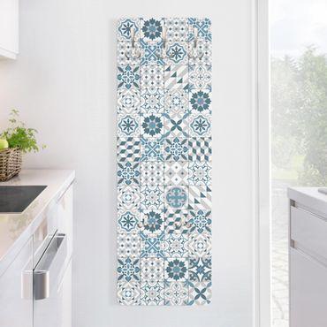 Appendiabiti disegni - Piastrelle mosaico geometrico Blu Grigio
