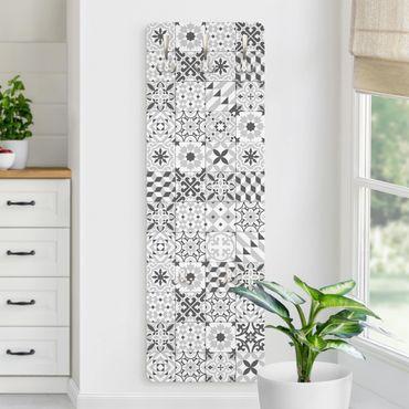 Appendiabiti disegni - Piastrelle mosaico geometrico grigio