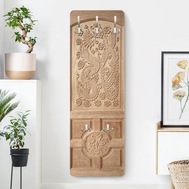 Appendiabiti - Intagliato asiatico porta di legno Da Thailand