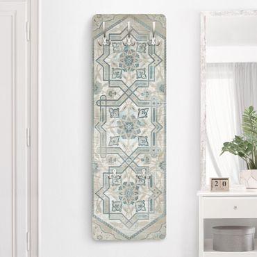Appendiabiti shabby - Pannello di legno d'epoca persiana vintage III