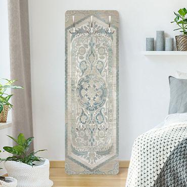 Appendiabiti shabby - Pannello di legno d'epoca persiana vintage IV