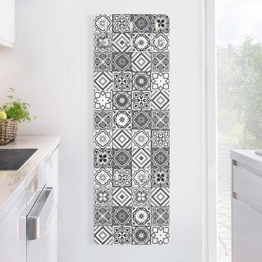Appendiabiti disegni - Piastrelle mosaico in scala di grigi