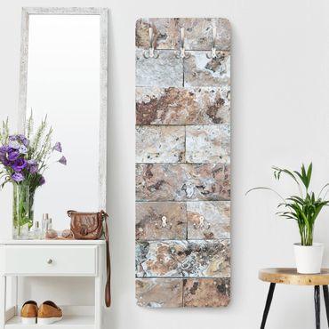 Appendiabiti - Natural marble stone wall