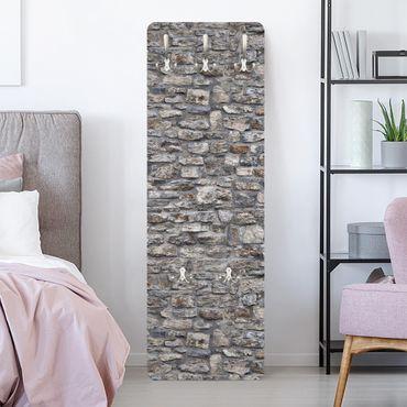 Appendiabiti effetto pietra - Antico muro pietra naturale
