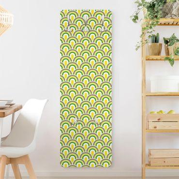 Appendiabiti disegni - No.Ta99 Motivo retro verde-giallo
