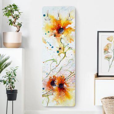 Appendiabiti arancione - Fiori dipinti - Stile provenzale