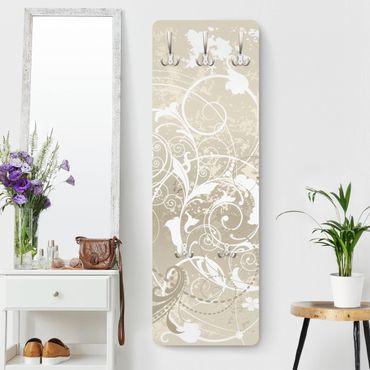 Appendiabiti - Design di madreperla ornamentale - Bianco beige