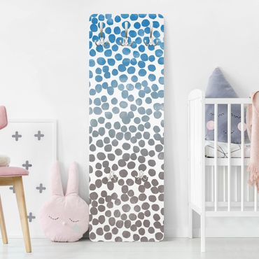 Appendiabiti - Dot pattern Blue Gray