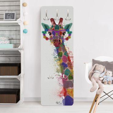 Appendiabiti bambini - Giraffa color arcobaleno