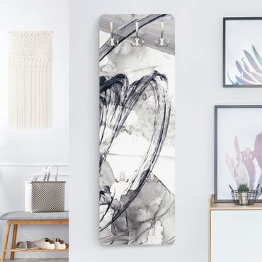 Appendiabiti moderno - Sonar bianco e nero I
