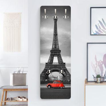 Appendiabiti - Torre Eiffel a Parigi con Dyane rossa