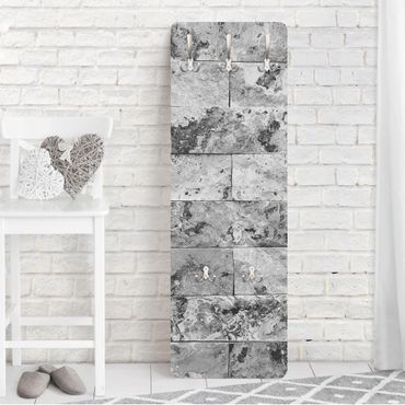 Appendiabiti - Stone wall natural marble gray